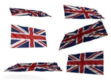 英国国旗集合 库存照片
