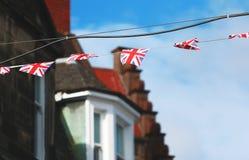 英国国旗飞行 图库摄影