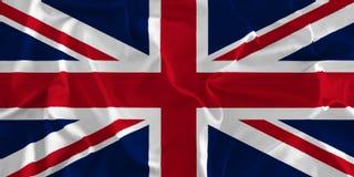 英国国旗,在丝绸背景的英国旗子 皇族释放例证