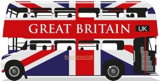 英国国旗Routemaster公共汽车 向量例证