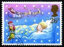 英国圣诞节邮票 库存照片