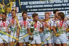 英国在莫斯科赢取橄榄球7个格兰披治系列 库存图片