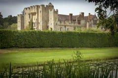 英国城堡和地面 免版税库存照片