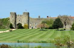 英国城堡在安伯利,苏克塞斯,英国 库存图片