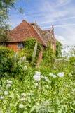 英国城堡庭院在苏克塞斯,英国 免版税库存照片