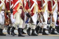 英国士兵的游行 免版税库存照片