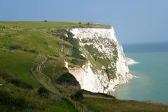 英国多弗白色峭壁 免版税库存图片