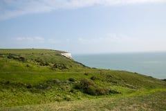 英国多弗白色峭壁 库存图片