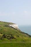 英国多弗白色峭壁 免版税库存照片