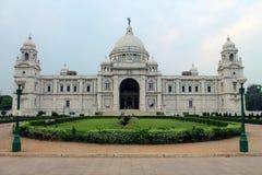 英国大厦现在修建了极大的印度kolkata大理石纪念纪念碑博物馆原来地华丽女王/王后对维多利亚白色 免版税库存图片