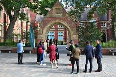 英国大学毕业 图库摄影