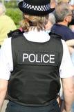 英国女性官员警察 免版税库存图片