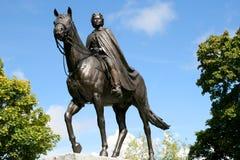 英国女王伊丽莎白二世雕象  图库摄影