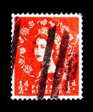 英国女王伊丽莎白二世- Predecimal Wilding, serie,大约1963年 库存图片