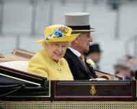 英国女王/王后 免版税库存照片