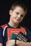英国学员年轻人 免版税库存照片
