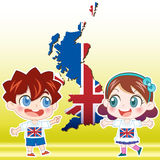 英国孩子 免版税库存图片