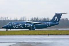英国宇宙空间阿斯特拉航空公司,机场普尔科沃,俄罗斯圣彼德堡2017年11月22日, 免版税库存照片