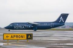 英国宇宙空间阿斯特拉航空公司,机场普尔科沃,俄罗斯圣彼德堡2017年11月22日, 免版税库存图片