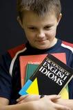 英国害羞的学员 免版税库存照片