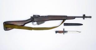 英国密林马枪李没有的埃菲尔德 5步枪 库存照片