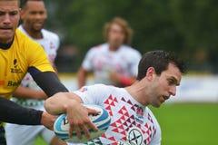 英国对橄榄球的罗马尼亚7个格兰披治系列在莫斯科 库存图片