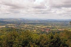 英国小山的横向 库存照片