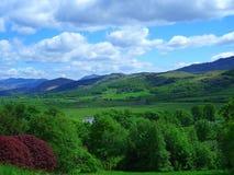 英国山和乡下 库存图片