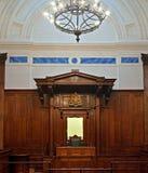 英国巡回刑事法庭空间 免版税库存照片