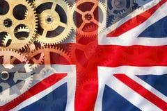 英国工程学-英国旗子 库存图片