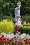 英国庭院场面 免版税图库摄影