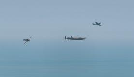 英国战争纪念品飞行 免版税库存照片