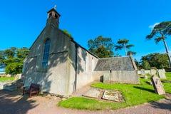 英国教会和公墓 库存图片