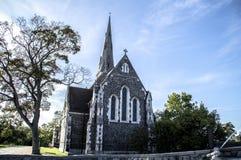 英国教会在丹麦 免版税库存图片