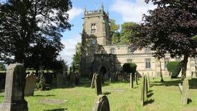 英国教区教堂-约克夏-与声音的HD 免版税库存照片