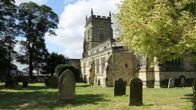 英国教区教堂-约克夏-与声音的HD 免版税库存图片