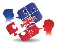 英国教训对话 免版税图库摄影