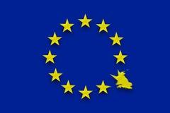 英国断裂从欧盟释放 免版税库存照片