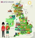 英国旅行地图 也corel凹道例证向量 库存照片