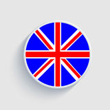 英国旗子圈子 例证 查出 免版税图库摄影