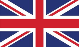 英国旗子正式颜色和比例恰当地导航例证 向量例证