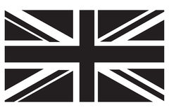 英国旗子灰色极谱 库存照片
