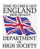 英国旗子的传染媒介图象 库存照片