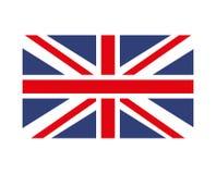 英国旗子被隔绝的象设计 皇族释放例证