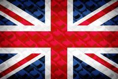 英国旗子,小汽车,微型 免版税图库摄影