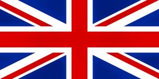 英国旗子,被构造化 免版税库存照片