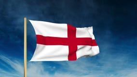 英国旗子滑子样式 挥动在风与 影视素材