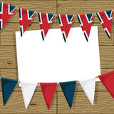 英国旗布装饰 免版税库存图片