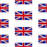 英国无缝的样式的旗子 库存照片