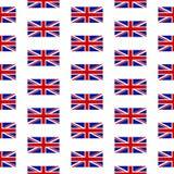 英国无缝的样式的旗子 免版税库存图片